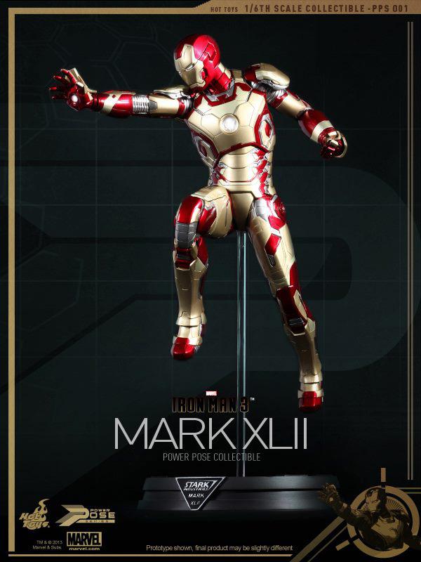 Preview | Hot Toys: Iron Man Mk XLII (Power Pose Series) (1)