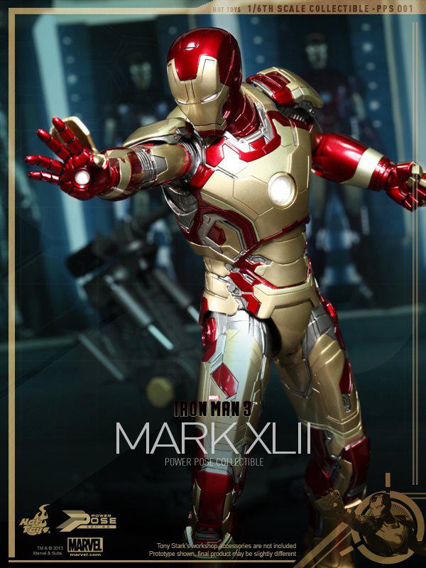 Preview   Hot Toys: Iron Man Mk XLII (Power Pose Series) (3)