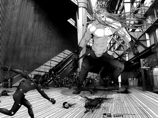 Manga de Gantz perto do final