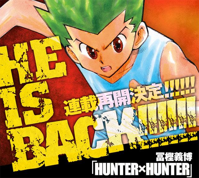 Manga de Hunter x Hunter regressa em Junho