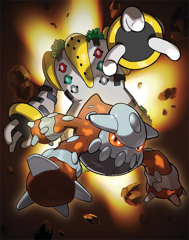 Heatran e Regigigas - Novos Pokémon Lendários