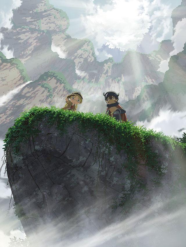 Imagem promocional dos filmes compilatórios de Made in Abyss
