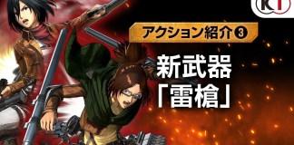 Mais gameplay de Attack on Titan 2: Final Battle