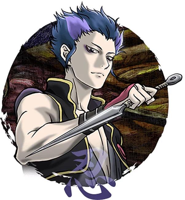 Kenroku Sanada, um ninja que viajou desde o início do período Edo com Sensui.