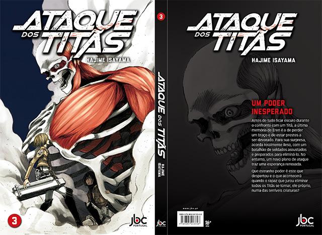 Ataques dos Titãs 3 pela JBC Portugal
