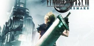 Esta é a capa de Final Fantasy VII Remake