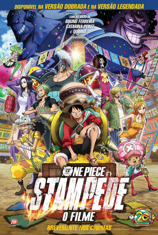 Póster português de One Piece: Stampede