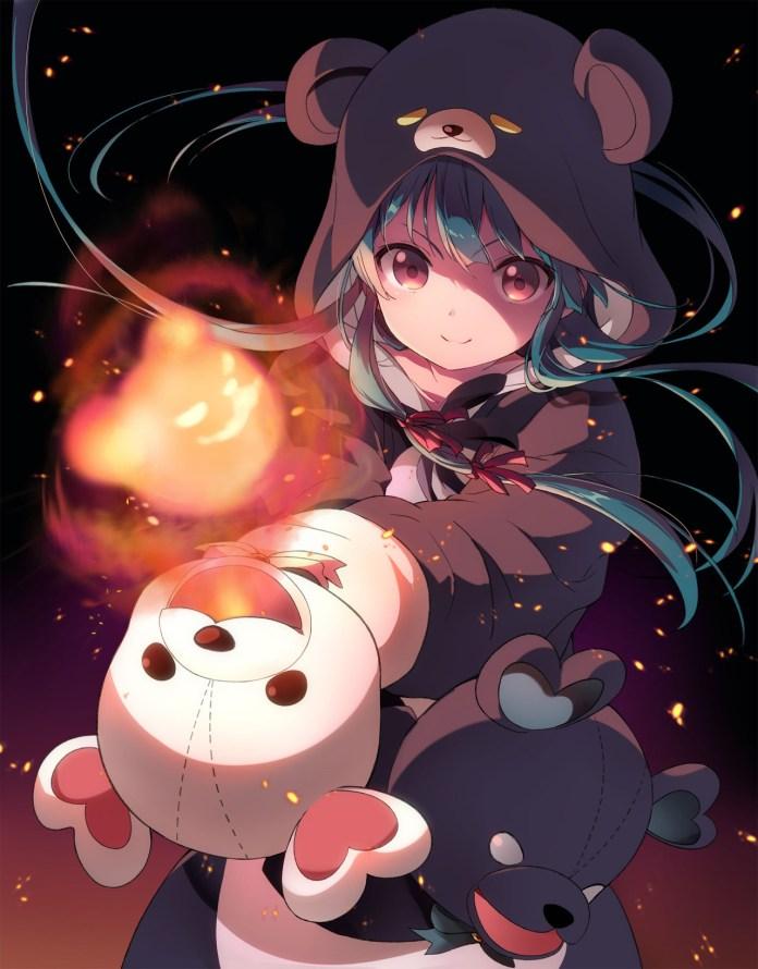 Imagem promocional da série anime de Kuma Kuma Kuma Bear