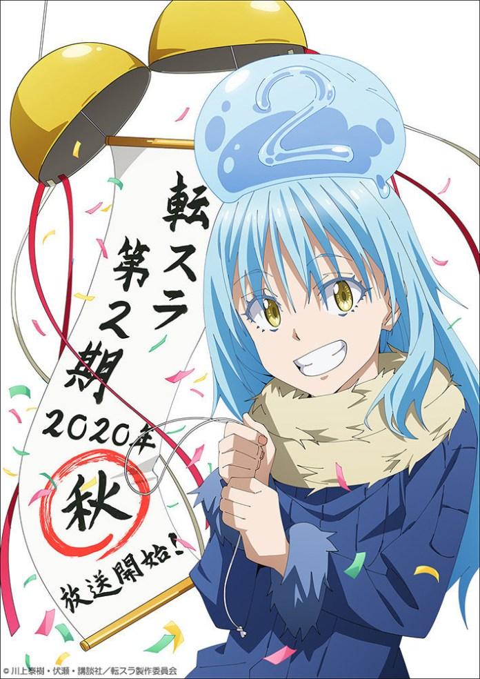 Imagem de anúncio de estreia de Tensei shitara Slime Datta Ken 2