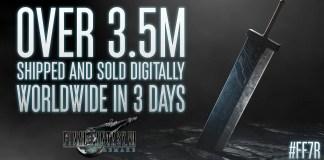 Final Fantasy VII Remake vendeu 3.5 milhões de cópias em 3 dias