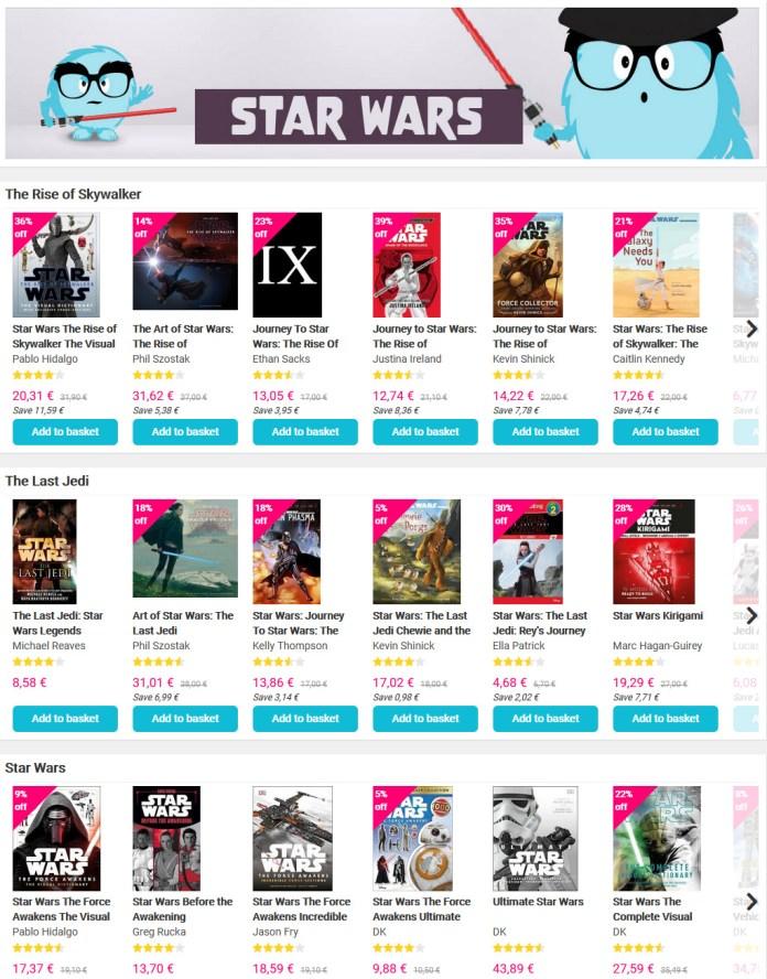Book Depository com Mega desconto em livros, mangás e novels de Star Wars