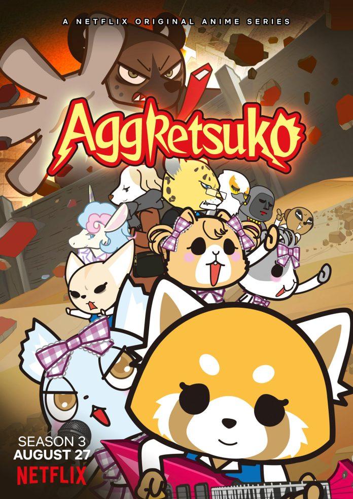 Imagem promocional de Aggretsuko 3