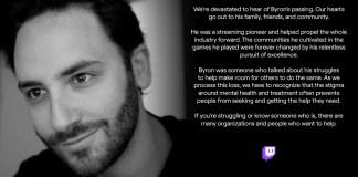 "Streamer Byron ""Reckful"" Bernstein suicida-se"
