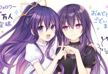 Date A Live agradece os 100 mil seguidores