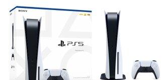 Esta é a caixa da Playstation 5