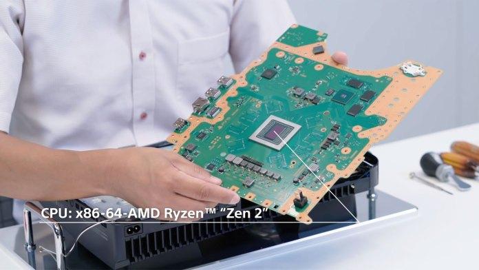 Imagem do CPU da Playstation 5