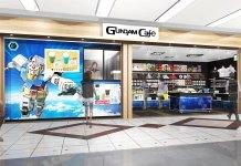 Café de Gundam no aeroporto de Haneda