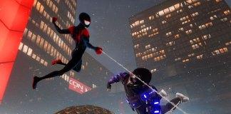 Fato de Spider-Man: Into the Spider-Verse em Marvel's Spider-Man: Miles Morales