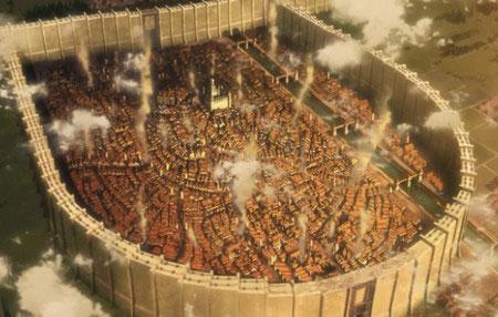 Screenshot da série anime de Attack on Titan