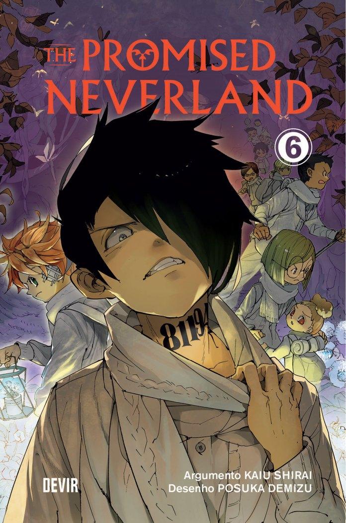 Capa do volume 6 de The Promised Neverland pela Devir