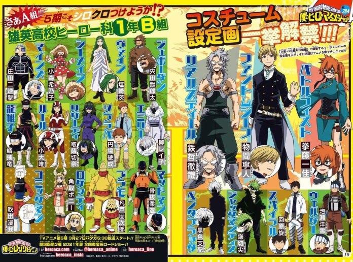 My Hero Academia 5 design characters