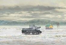 9 minutos do 3º filme de Girls und Panzer das Finale