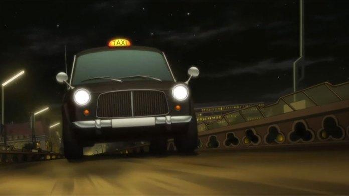 Carro embate contra as instalações da Shueisha