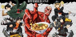 Attack on Titan anuncia colaboração com a marca Ramen instantâneo