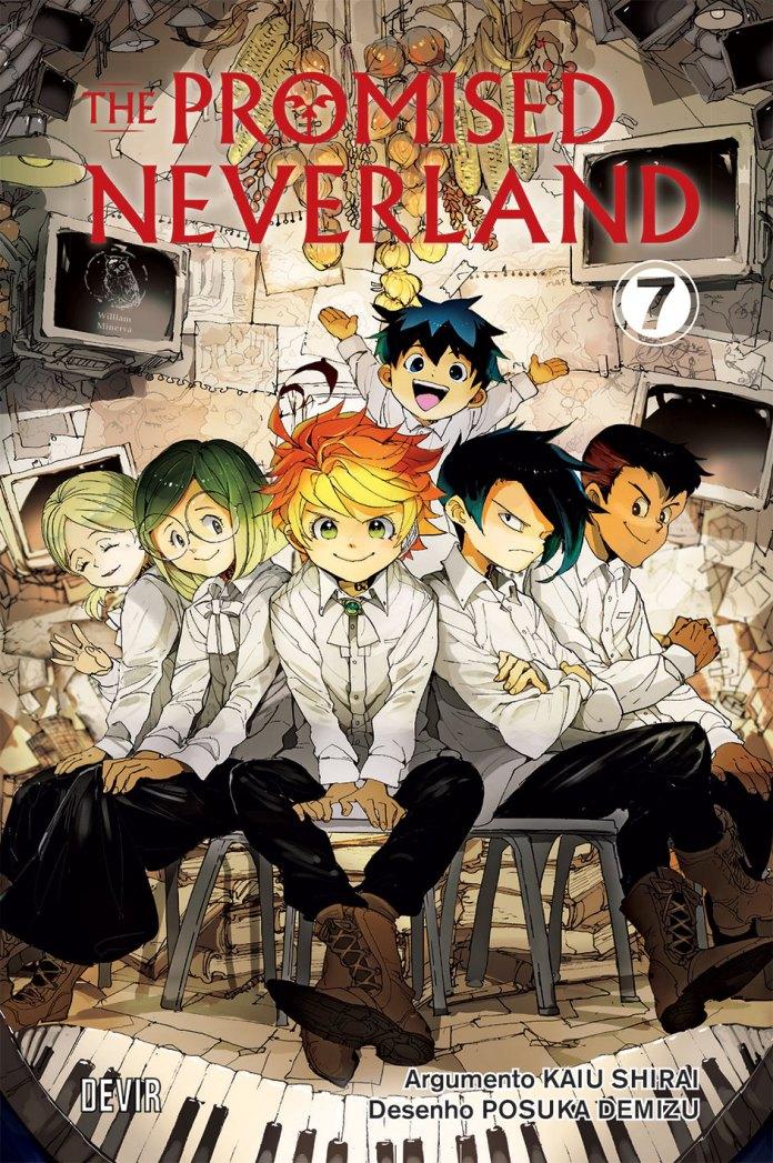 Capa do volume 7 de The Promised Neverland pela Devir