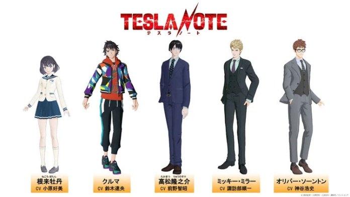 Tesla Note anime cast
