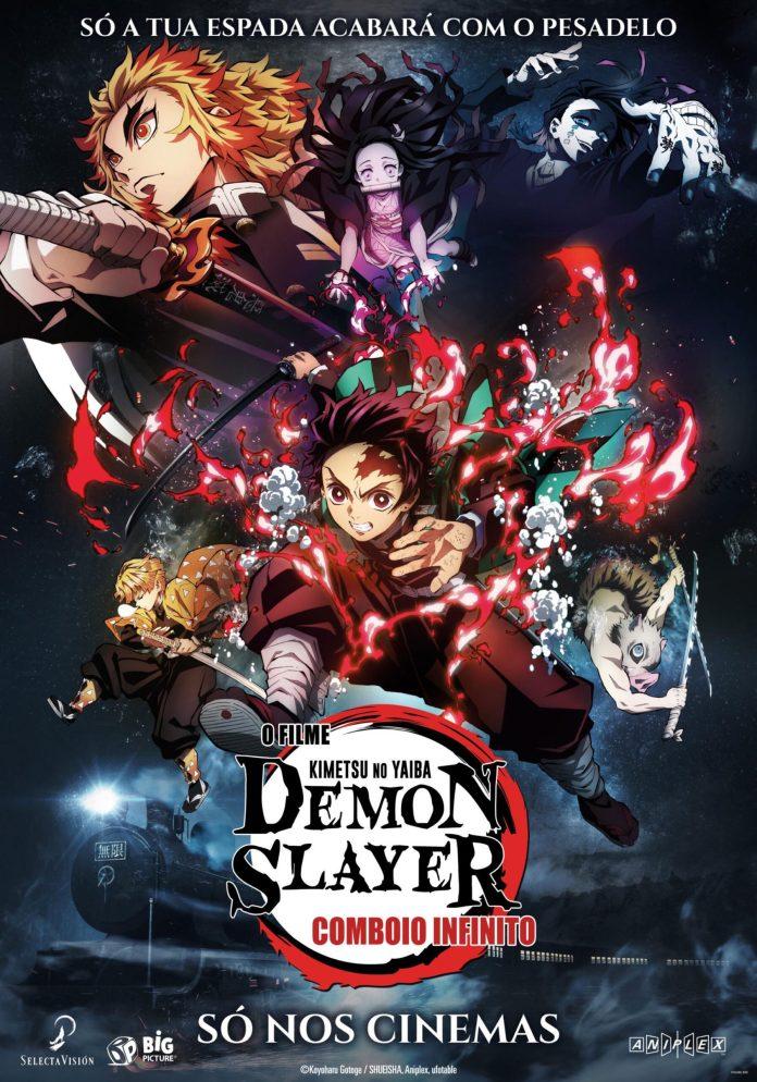 Poster de Demon Slayer – Kimetsu No Yaiba – O filme Comboio Infinito