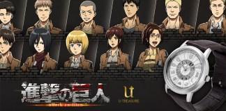 Relógio de Attack on Titan celebra fim do mangá