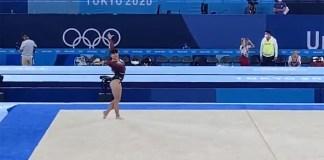 Ginasta olímpica Alexa Moreno realiza rotina ao som de Demon Slayer