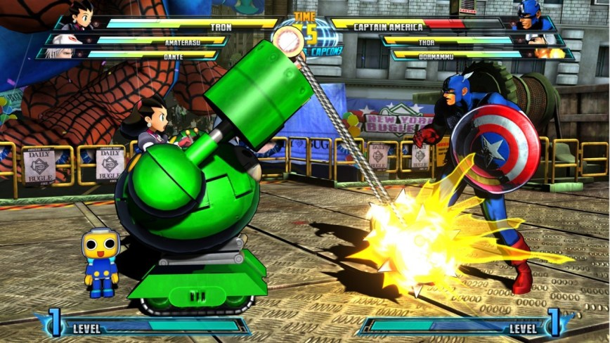 Marvel vs. Capcom 3 Fate of Two Worlds Review Screen 1