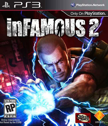 inFamous 2 Review - PlayStation 3 Box Art