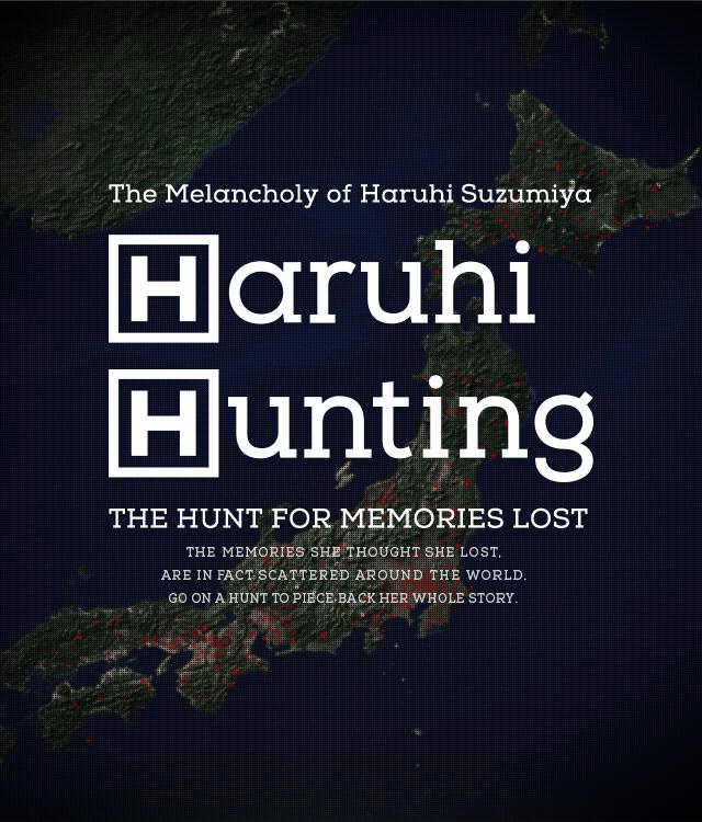 Haruhi Hunting Website Visual
