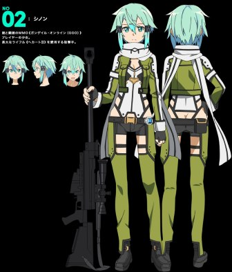 Sword-Art-Online Season 2 Character Design Sinon