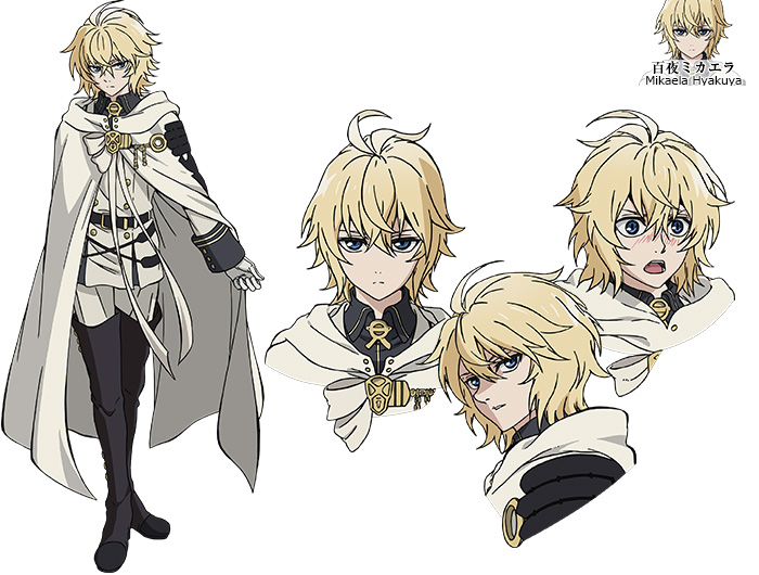 Unique Anime Character Design : Owari no seraph anime to be split cour new visual cast