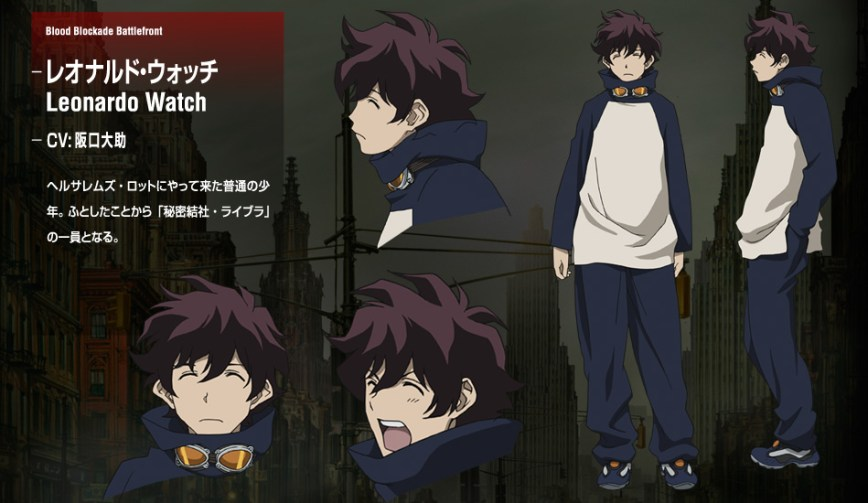 Kekkai-Sensen-Anime-Character-Designs-Leonard-Watch