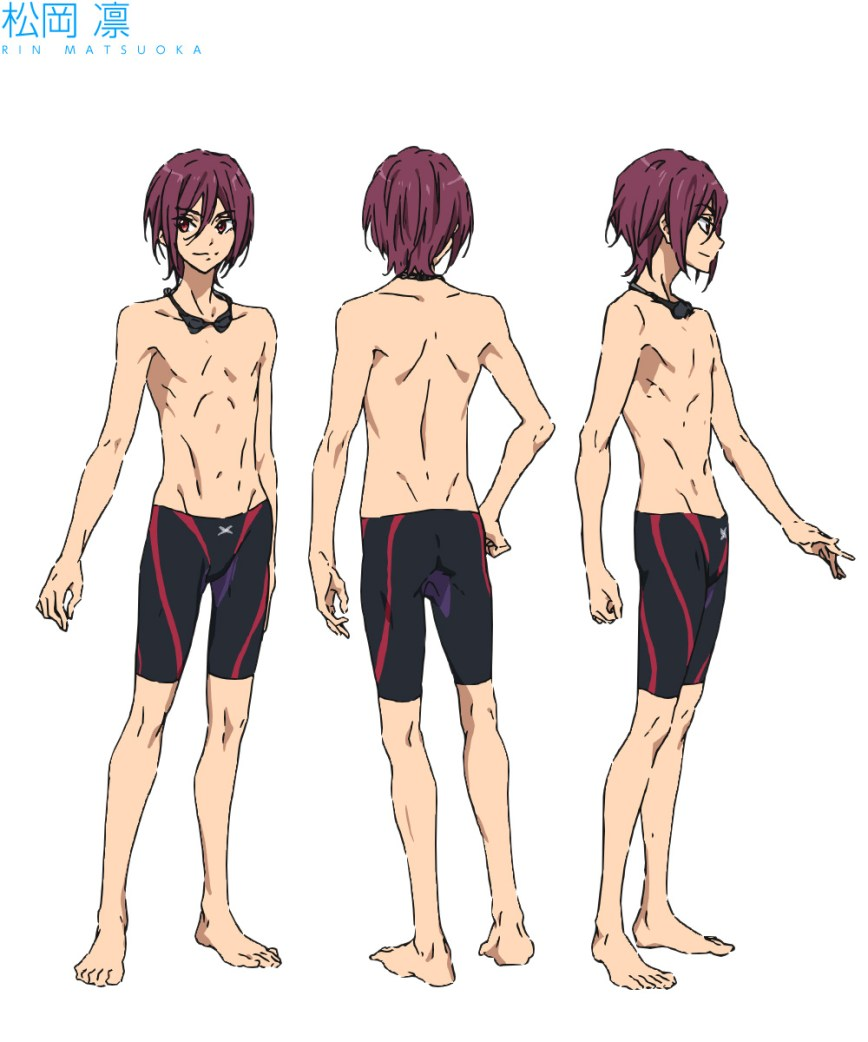 High☆Speed!--Free!-Starting-Days-Character-Designs-Rin-Matsuoka