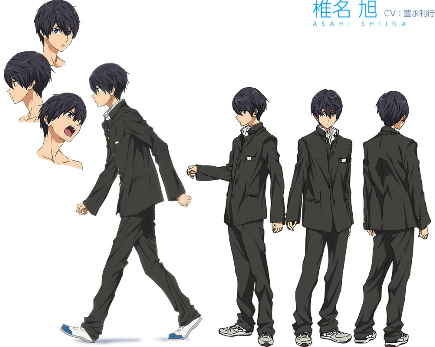 High☆Speed!--Free!-Starting-Days-Character-Designs-Haruka-Nanase