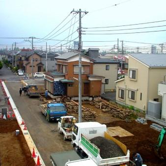 9:曳家工事 新設基礎に移動