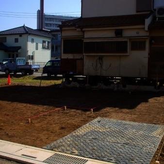 7:曳家工事 新設基礎の地縄・位置確認