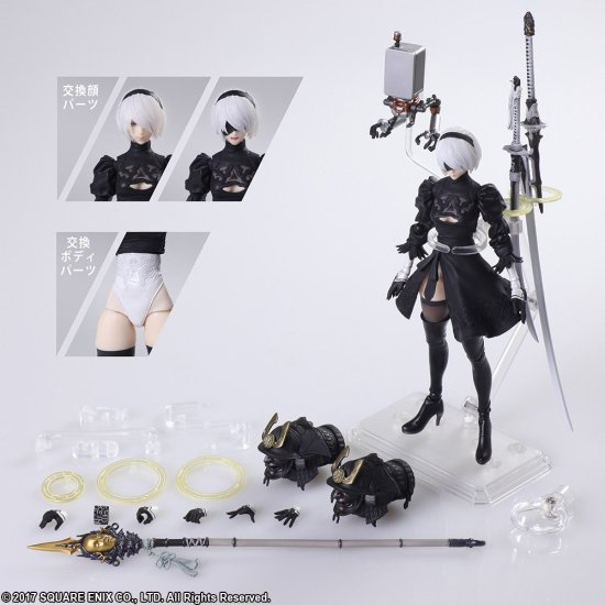 NieR Automata 2B and 2P Figures Available for Pre Order