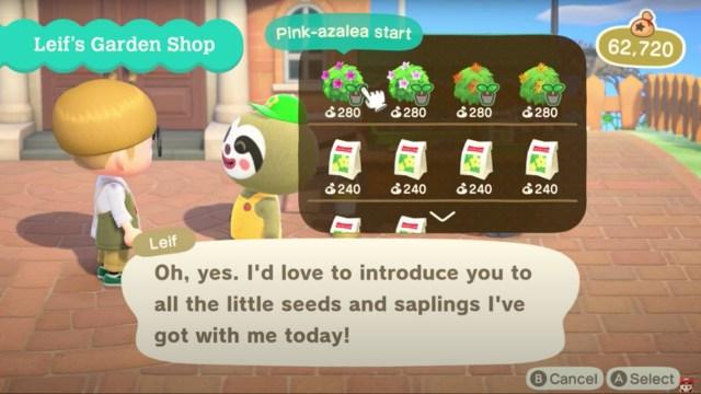 Animal Crossing: New Horizons - Leif's Garden Shop