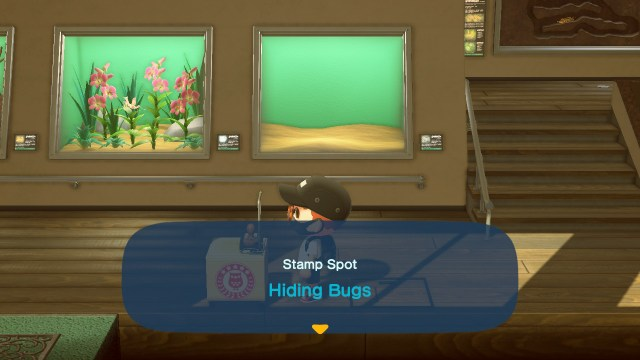 Animal Crossing: New Horizons Stamp Rally: Hiding Bugs Stamp Station