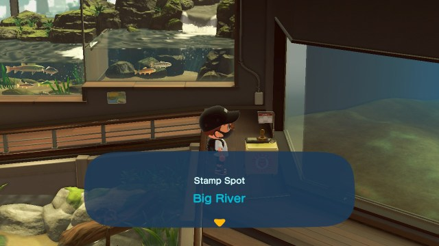 Animal Crossing: New Horizons Stamp Rally: Big River Stamp Station