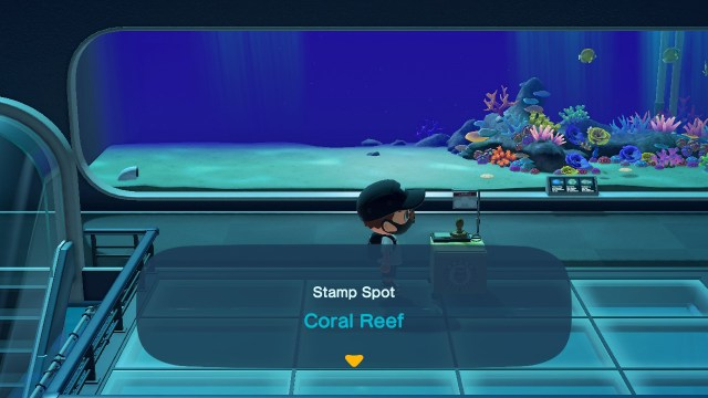 Animal Crossing: New Horizons Stamp Rally: Coral Reef Stamp Station
