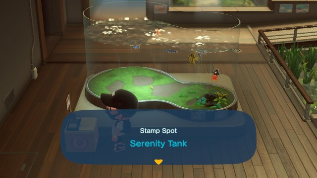 Animal Crossing: New Horizons Stamp Rally: Serenity Tank Stamp Station