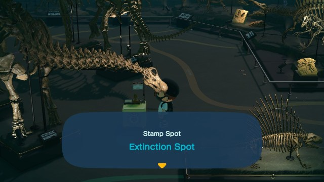 Animal Crossing: New Horizons Stamp Rally: Extinction Spot Stamp Station